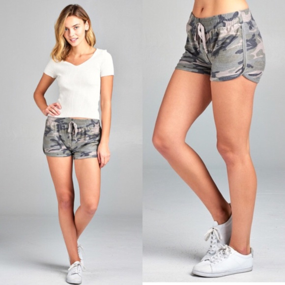 8c574eee11810 Shorts | Camo Womens Camouflage French Terry | Poshmark